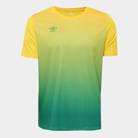 88cfd47530 Camisa Umbro TWR Degrade Masculina - Amarelo e Verde - Compre Agora ...