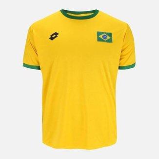 Camisa Lotto Brasil Masculina f4a6a81f37c53