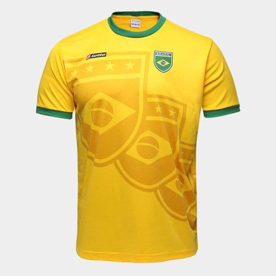 b7a4f339b Camisa Brasil 1994 n° 11 Lotto Masculina - Amarelo e Verde - Compre ...