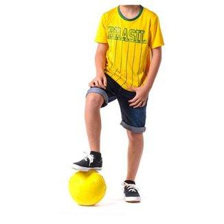 dea61428eb Camiseta Braziline Manga Curta Brasil Xingu Infantil