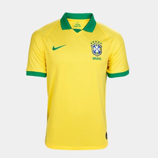 5a3c74380d Camisa Seleção Brasil I 19/20 s/n° Torcedor Nike Masculina - Amarelo ...