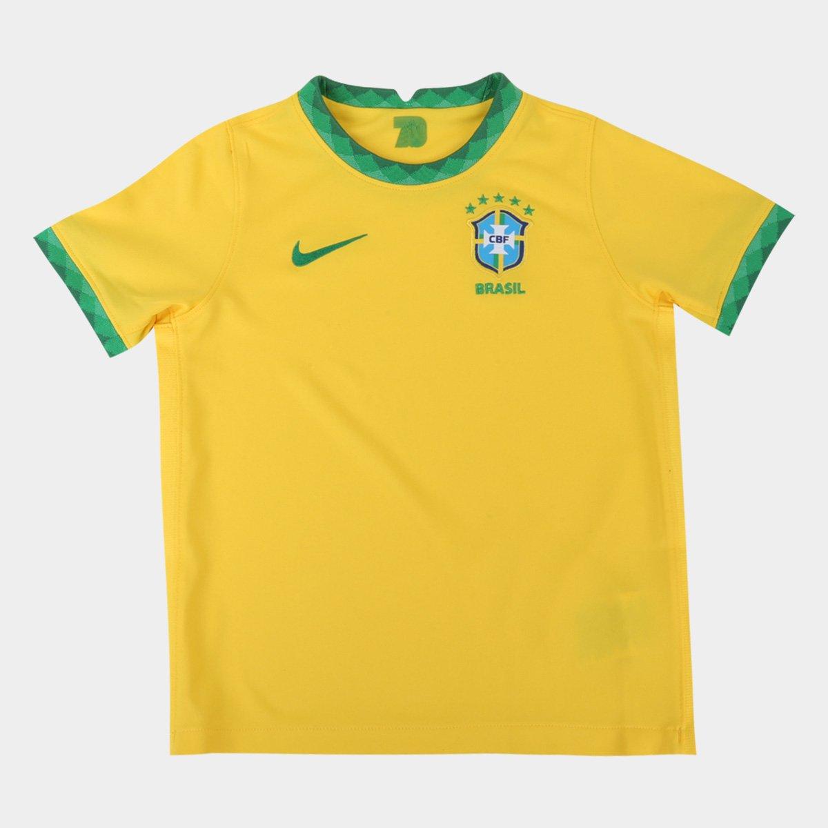 Camisa Seleção Brasil Infantil I 20/21 s/n° Nike