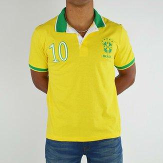 Camiseta Polo Rozz Brasil 10 0b74dde4de2ba