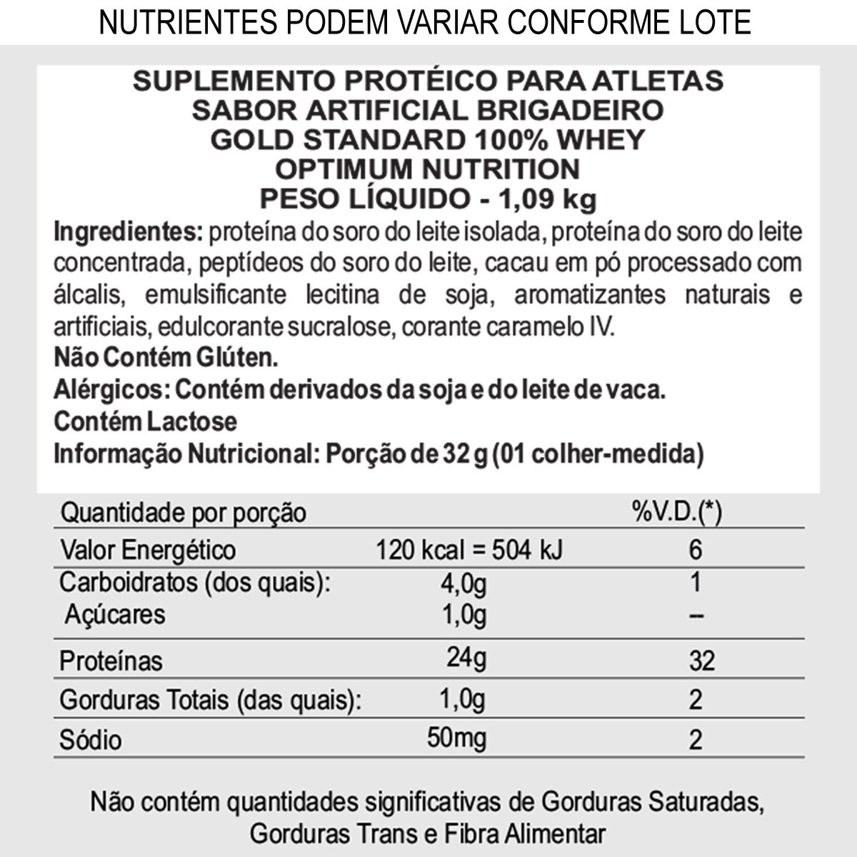 Whey Protein 100% Whey Gold Standard 20% More FREE 1.09kg - Optimum Nutrition - 1