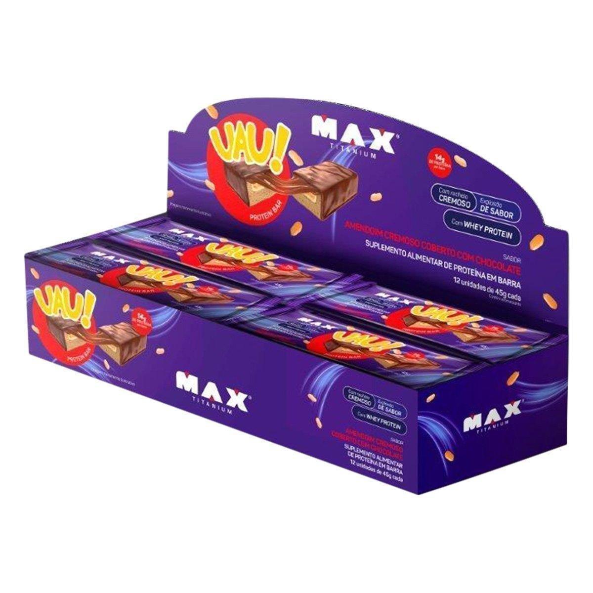 Uau Protein 45g c/ 12 unidades - Max Titanium