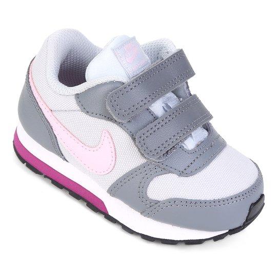 38bd7f41a5c08 Tênis Infantil Nike Md Runner 2 - Rosa e Cinza | Netshoes