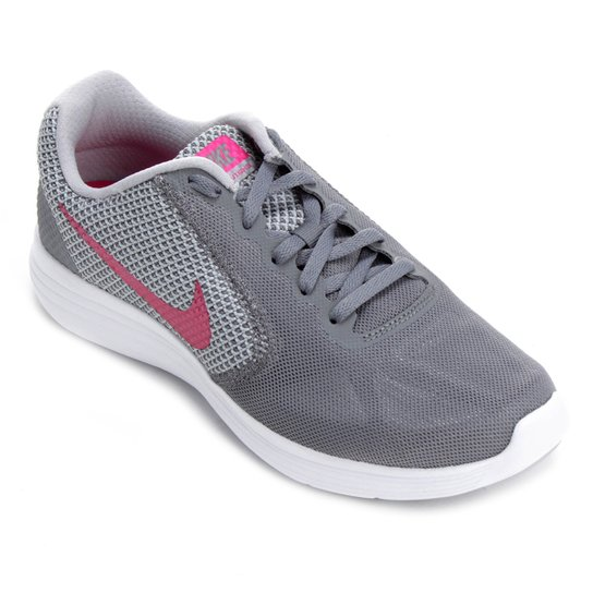 Tênis Nike Revolution 3 Feminino - Rosa e Cinza - Compre Agora ... 7849f3f660e92