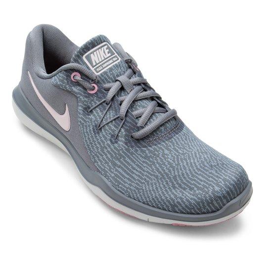 9d5670da96 Tênis Nike Flex Supreme TR 6 Feminino - Cinza e Rosa - Compre Agora ...