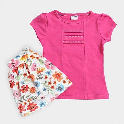 Conjunto Infantil Fakini Estampa Floral Feminino