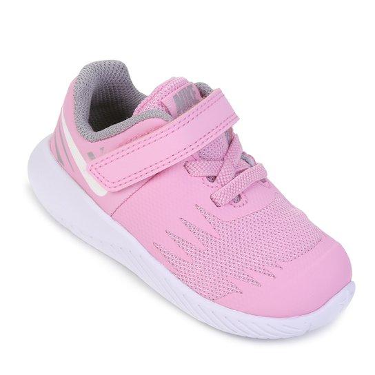 2326b92908f Tênis Infantil Nike Star Runner Feminino - Rosa e Cinza - Compre ...