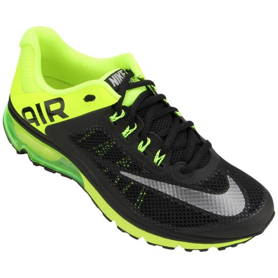 official photos 81113 60d7a Tênis Nike Air Max Excellerate+ 2 - Chumbo+Verde Limão ...