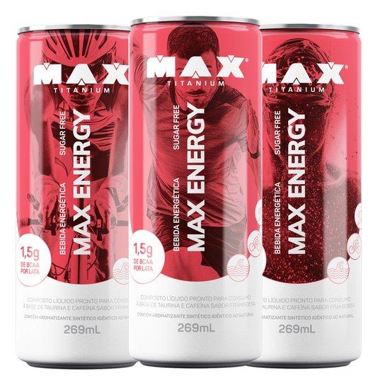 Energético Max Energy 269 ml c  6 unidades Max Titanium - Framboesa ... 8445bdef6c0