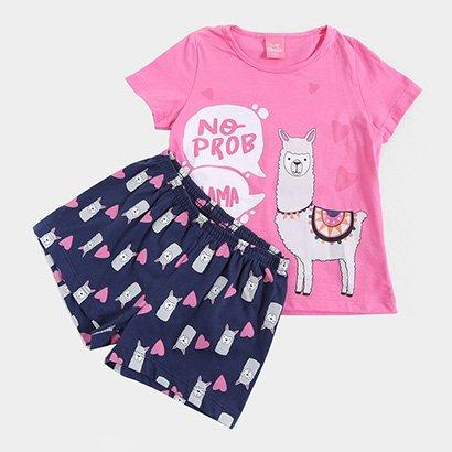 Pijama Infantil Kamylus Lhama Feminino