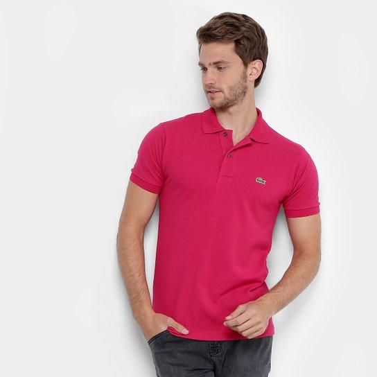 e30287e007 Camisa Polo Lacoste Original Fit Masculina - Pink e Prata - Compre ...