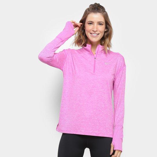 488062d27ef Jaqueta Nike Element Top HZ Feminina - Pink e Prata - Compre Agora ...