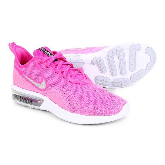 12cabcd14fe6f Tênis Nike Air Max Sequent 4 Feminino - Rosa | Netshoes