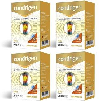 4x Condrigen (Colágeno Tipo II) 40mg (4x 60 cápsulas) - MaxiNutri