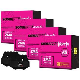 4x Soma Pro Woman Zma 60 Caps - Iridium Labs + Luva