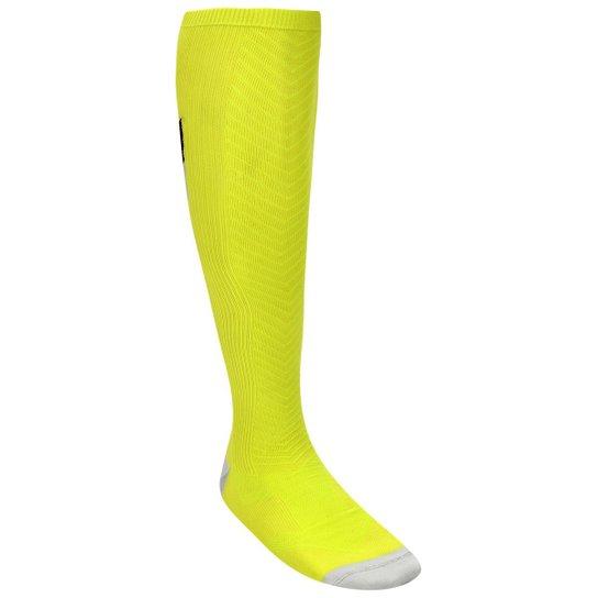 280d15121 Meia de Compressão Nike Elite Running Stability 2 - Verde Limão+Preto