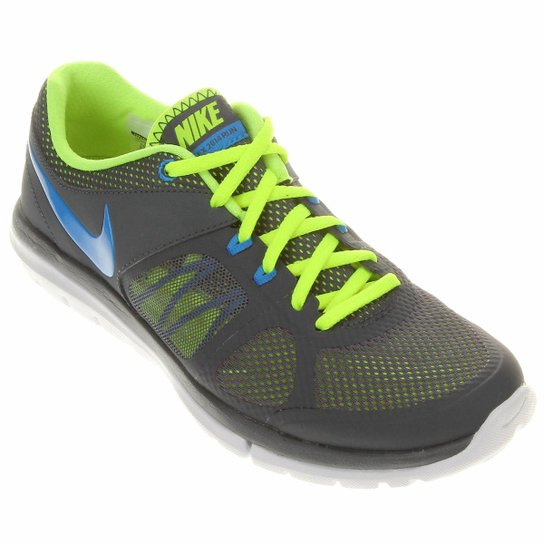 d17b290e19 Tênis Nike Flex 2014 RN MSL - Cinza+Verde Limão