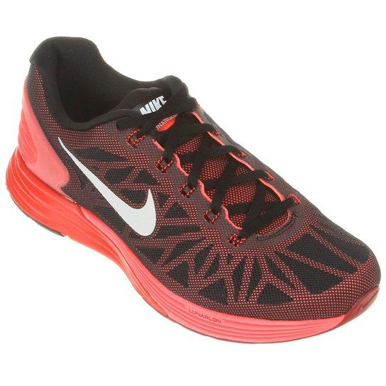 outlet store 56ff1 49d88 Tênis Nike Lunarglide 6 - Preto+Laranja