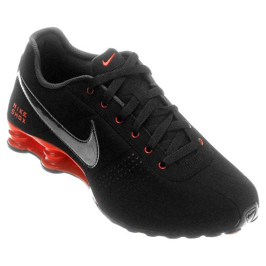 9ae6cca25cd Tênis Nike Shox Deliver - Preto+Laranja Escuro