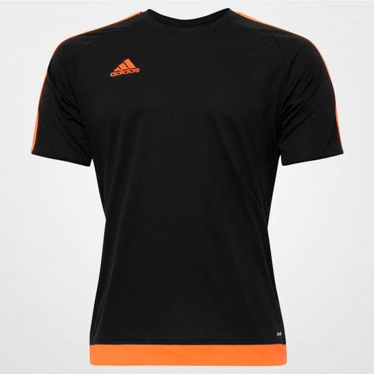 ca228cf7f Camisa Adidas Estro 15 Masculina - Preto e Laranja - Compre Agora ...