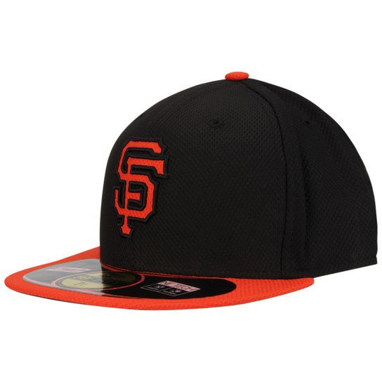 Boné New Era 5950 MLB BP Diamond San Francisco Giants Team Color - Preto+ Laranja ef8dfe2022b