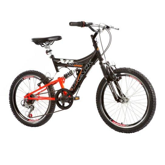 fdce2e972 Bicicleta Track Bikes XR 20 Full Infantil - Aro 20 - Preto e Laranja ...