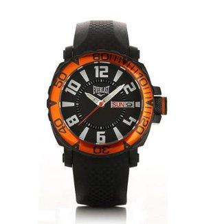 4a4db63a801 Relógio Masculino Everlast Pulseira Silicone Analógico