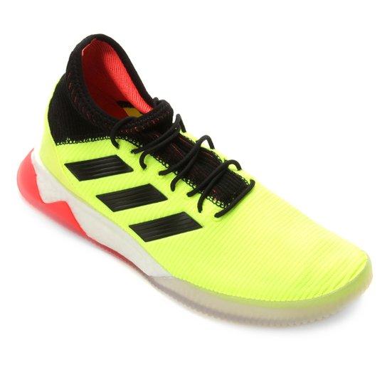 a433603a80 Chuteira Futsal Adidas Predator Tango 18 1 TR - Verde Limão e Preto ...