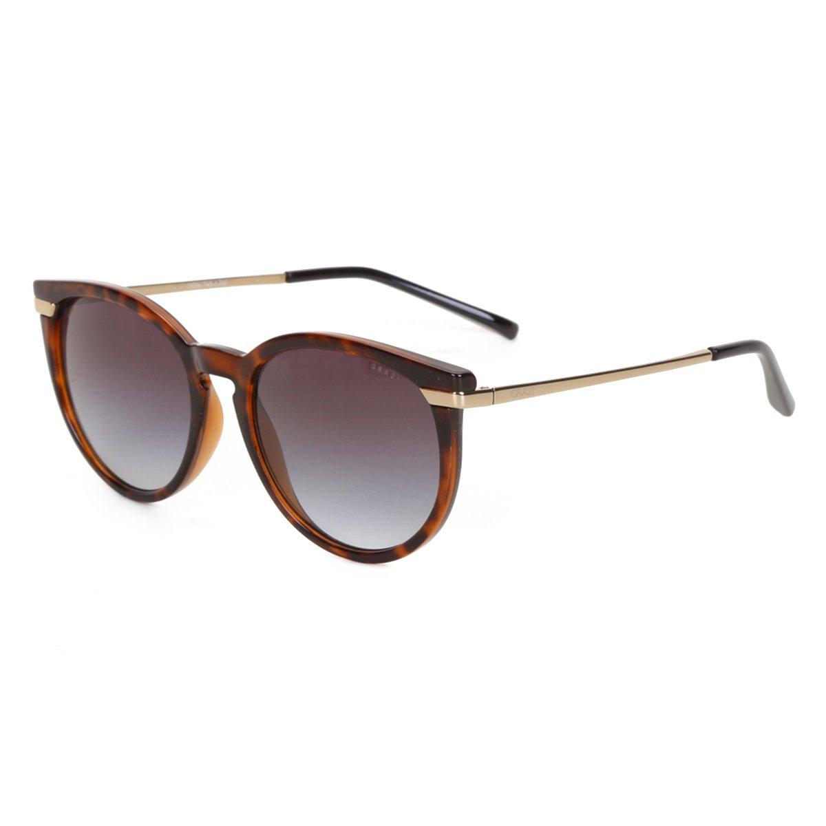 Óculos de Sol Grazi Tartaruga Feminino