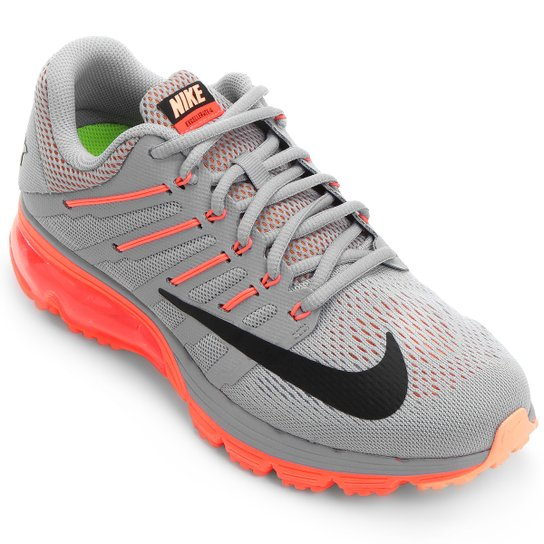 competitive price 7c2a2 801e1 ... Tênis Nike Air Max Excellerate 4 Feminino - Cinza+Laranja ...