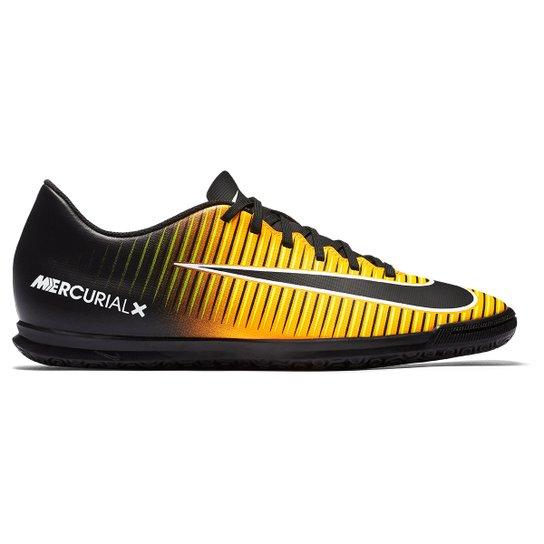 c51e3b921e Chuteira Futsal Nike Mercurial Vortex 3 IC - Preto+Laranja