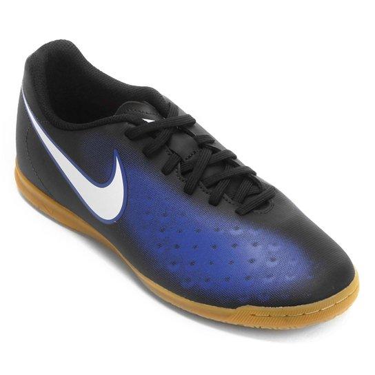 f0c71fd1e2633 Chuteira Futsal Nike Magista Ola II IC Masculina - Preto e Azul