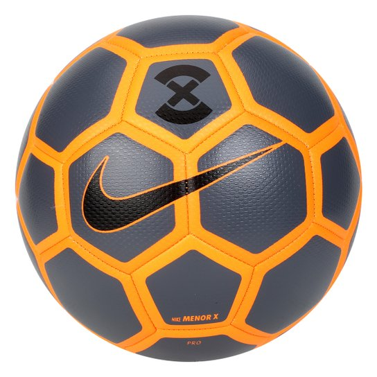 Bola Futsal Nike FootballX Menor - Cinza e Laranja - Compre Agora ... 320f853284998