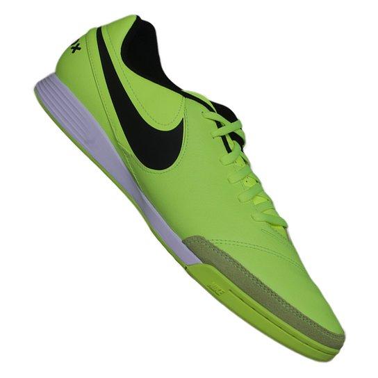 Tênis Nike Tiempox Genio II Leather Ic - Verde Limão+Preto 66441ce3a3bf3
