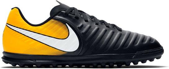 6d283ffaf9f22 Chuteira Society Infantil Nike Tiempo Rio 4 IC TF - Preto+Laranja