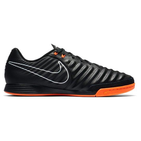 551d322c78 Chuteira Futsal Nike Tiempo Legend 7 Academy IC - Preto e Laranja ...