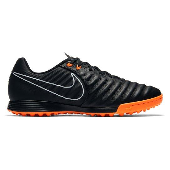c8c990a068553a Chuteira Society Nike Tiempo Legend 7 Academy TF - Preto e Laranja ...