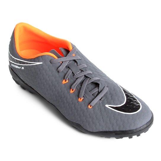 194193d64c Chuteira Society Nike Hypervenom Phantom 3 Academy TF Society -  Cinza+Laranja