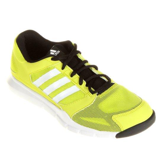 833c34e216c7e Tênis Adidas Essential Star - Verde Limão+Preto