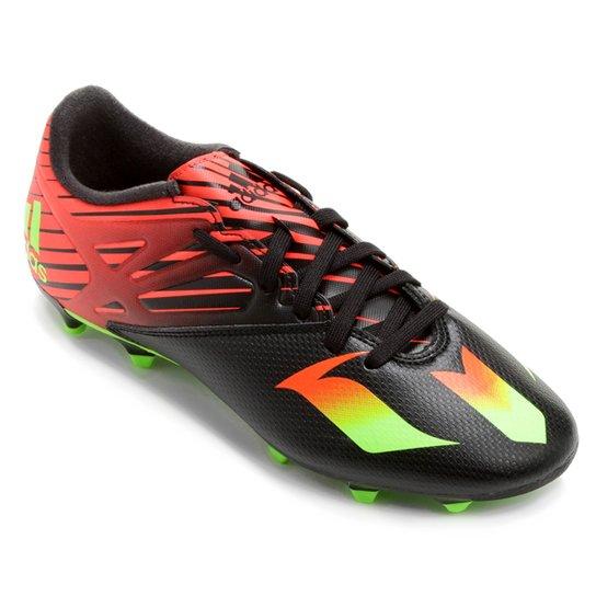 finest selection b3c23 29645 Chuteira Adidas Messi 15.3 FG Campo - Preto+Laranja