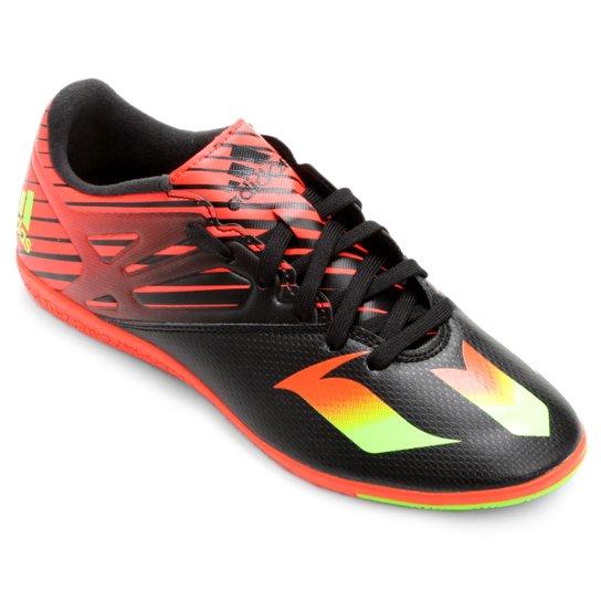 07dd2d60cac8e Chuteira Futsal Adidas Messi 15.3 IN - Preto+Laranja ...