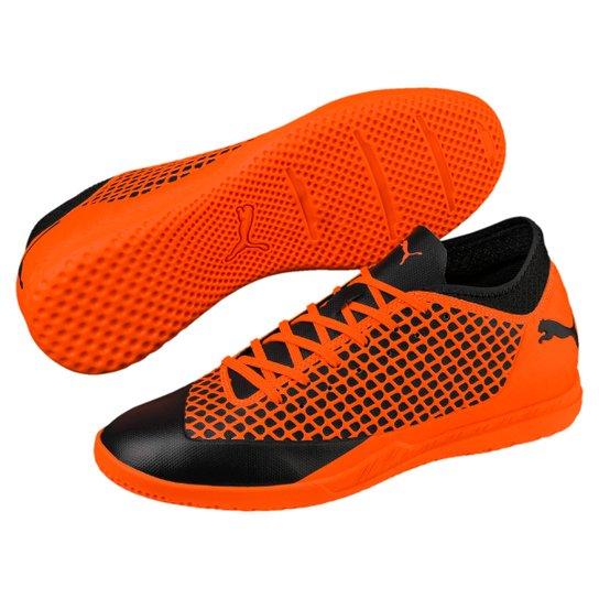 617a871cc5711 Chuteira Futsal Puma Future 2.4 IT - Preto+Laranja