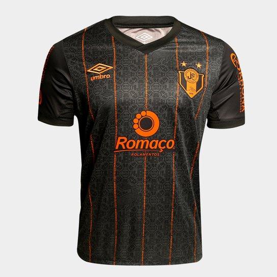 18add87c07 Camisa Joinville III 14 15 nº 10 Torcedor Umbro Masculina - Preto+Laranja