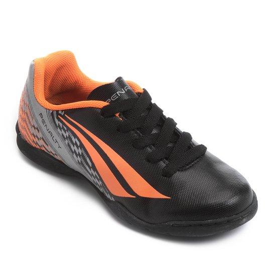 8fd3c37ccd5c0 Chuteira Futsal Infantil Penalty K Soccer Storm 7 - Preto e Laranja ...