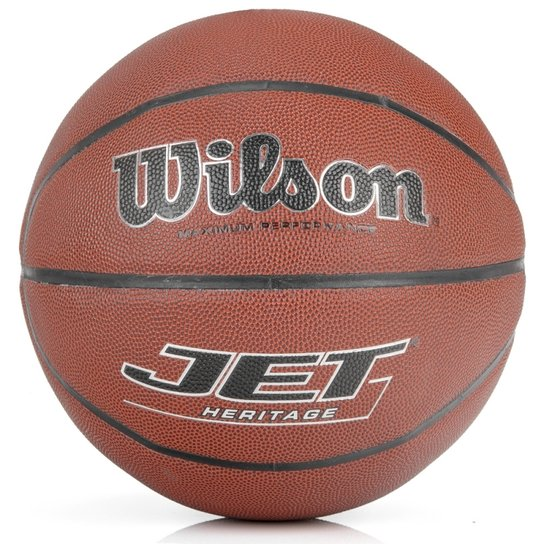 Bola wilson Basquete Wilson Jet Heritage - Preto e Laranja - Compre ... 8b94ad0d6f3c8