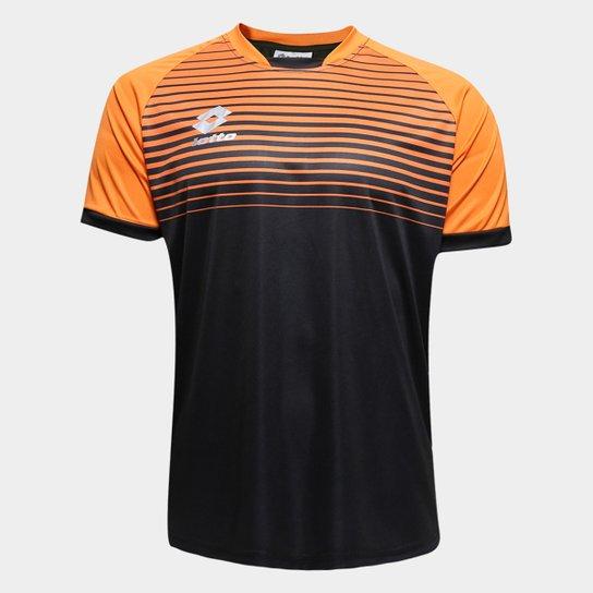 f4d4650da3 Camisa Lotto Aspen Masculina - Preto e Laranja   Netshoes