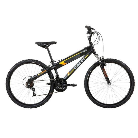 Bicicleta Aro 26 Caloi TRS 21 Marchas - Preto e Laranja - Compre ... 084e05e063e